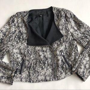 Karen Kane marble print moto jacket blazer.
